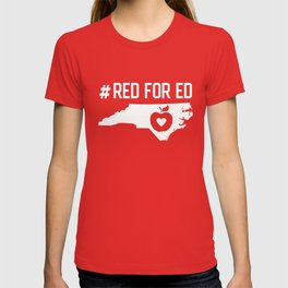NC Red for Ed North Carolina teachers T-shirt