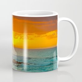 Sunset over childrens pool Coffee Mug