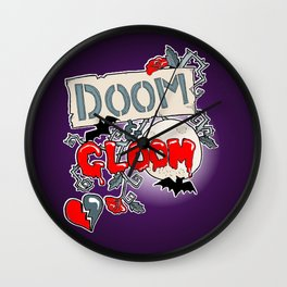 Doom & Gloom Wall Clock