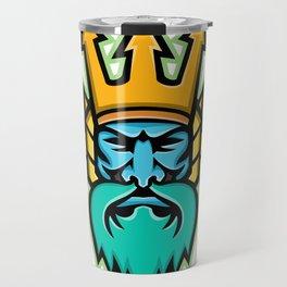 Poseidon Greek God Mascot Travel Mug