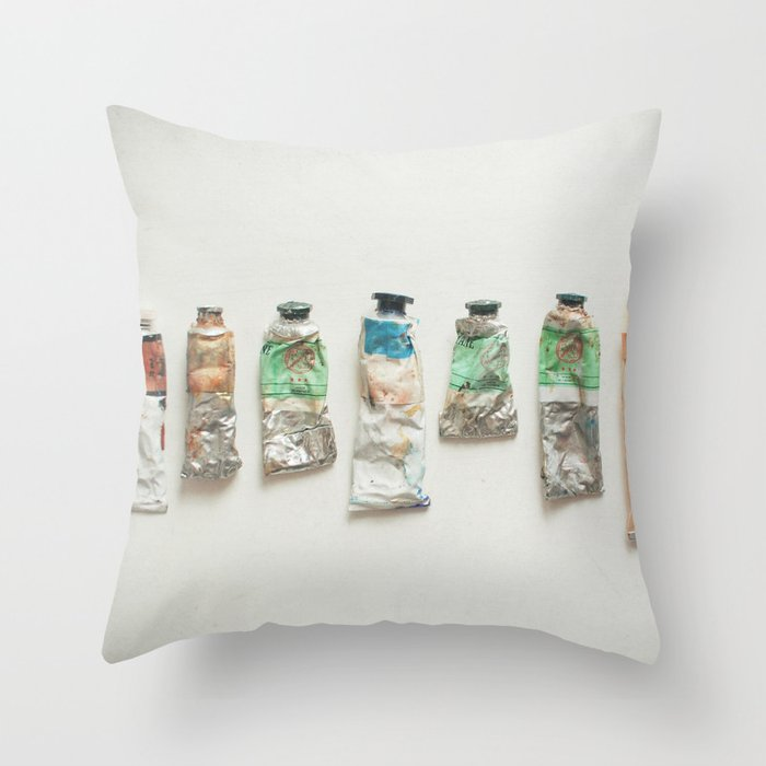 Oil Paints Throw Pillow