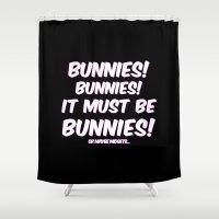 bunnies Shower Curtains featuring Bunnies by Nana Leonti