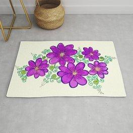 Purple violets Rug