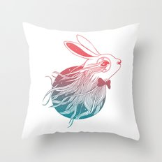Dreaming Down the Rabbit Hole Throw Pillow