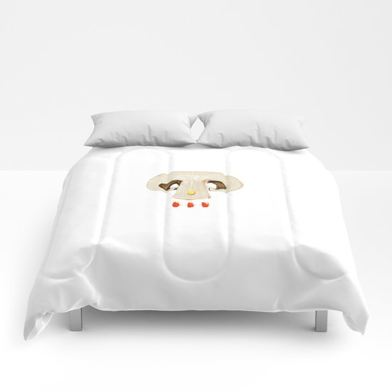 MOUTHFUL SKULL Comforters