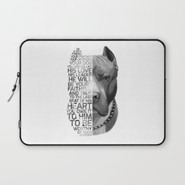 Pit Bull Print, Pit Bull Quote, Pit Bull Gift, Text Dog Portrait, Dog Art, Dog Quotes Print, Text Do Laptop Sleeve