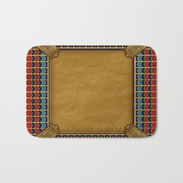 Egyptian Revival / Art Deco Pattern Bath Mat