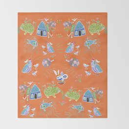 Life in Africa Throw Blanket
