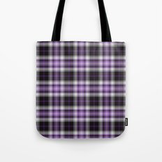 Purple Plaid Tote Bag