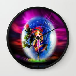 Love greetings by airmail Wall Clock