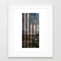 patriots Framed Art Prints featuring Guns of the patriots by  Maʁϟ