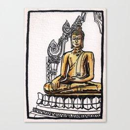 Bangkok : Golden Buddha in Wat Traimit Canvas Print