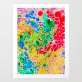 Marbling 4, Tie Dye Effect Abstract Pattern Art Print
