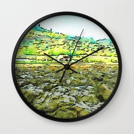 Hortus Conclusus: clods of earth and landscape Wall Clock