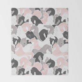 Playing Horses pattern Throw Blanket