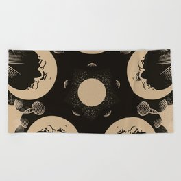 Ouija Wheel of the Moon - Beyond the Veil Beach Towel