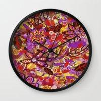 renaissance Wall Clocks featuring Renaissance Fair by Teri Newberry