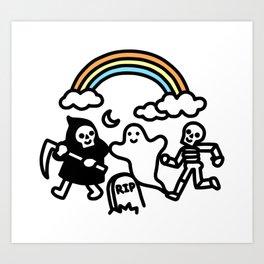 Spooky Pals Art Print