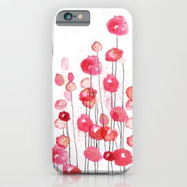 Poppies in Pink iPhone Case
