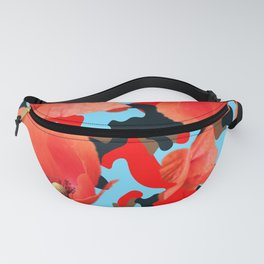 Poppie Camouflage Red Blue Fanny Pack
