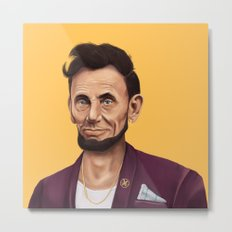 Hipstory -  Abraham Lincoln Metal Print