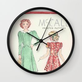 Retro Chic Wall Clock