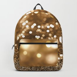 Pure Gold - Christmas Gold Glitter Backpack