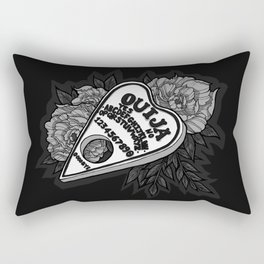 Ouija Planchette - Monochrome Rectangular Pillow
