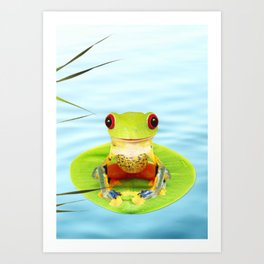 a Frog Art Print