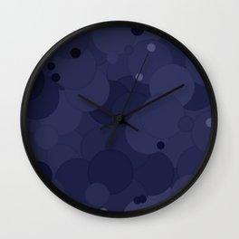 Peacoat Bubble Dot Color Accent Wall Clock