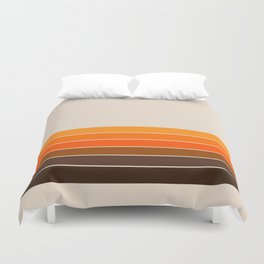 Golden Spring Stripes Duvet Cover
