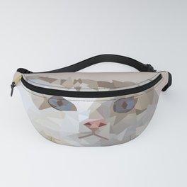 Low Poly cat portrait Fanny Pack