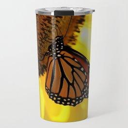 Monarch Sunflower Travel Mug