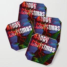 Happy Christmas card Coaster