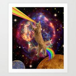 CAT SPACE  Art Print