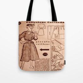 1950's vintage sewing pattern VIII Tote Bag