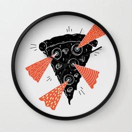 Lazer Pizza Wall Clock