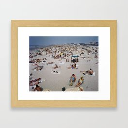 1960's Wildwood Beach, Wildwood, NJ Retro Beach Framed Art Print