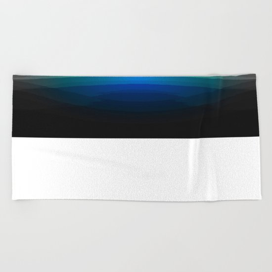 Blue Sunrise Beach Towel