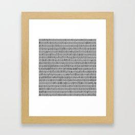 Black & White Hand Drawn Stick Pattern Framed Art Print