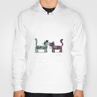 wedding Hoodies featuring Cat Wedding by maria carluccio