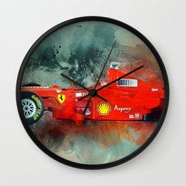 F1 Sports Car Wall Clock