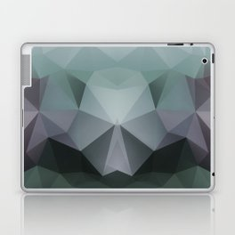 Abstract geometric polygonal pattern in grey and green tones . Laptop & iPad Skin