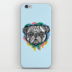Pug Face iPhone & iPod Skin
