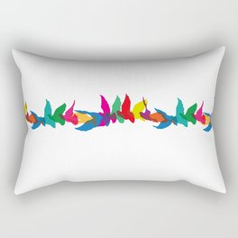 A colourful flight of fancy Rectangular Pillow