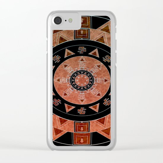 ethnic circle Clear iPhone Case