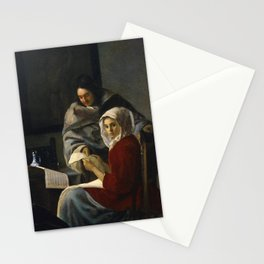 "Johannes Vermeer ""Girl Interrupted at Her Music"" Stationery Cards"