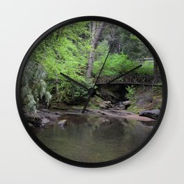Cook Forest Bridge Wall Clock