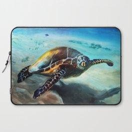 Friendly Sea Turtle by Martha Dodd Laptop Sleeve