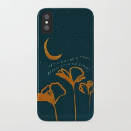 """""""Let Light Be A Sweet Rebellion In The Shadows"""" iPhone Case"""